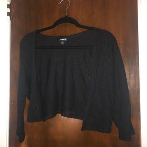 Black bolero cardigan